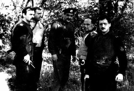 Офицеры 10-ой спецроты ППС УВД в Харьковской области