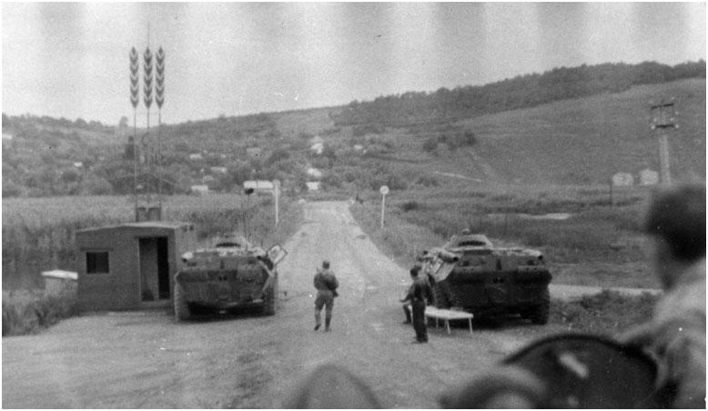Сотрудники Харьковской 10-ой спецроты ППСМ на охране Украино – Молдавской границы
