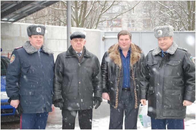 Два командира Харьковского «Беркута» - второй с лева Погорелов П.И и крайний справа Черкашин И.К.